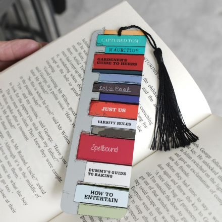 Personalised Aluminium Metal Book Spines Bookmark